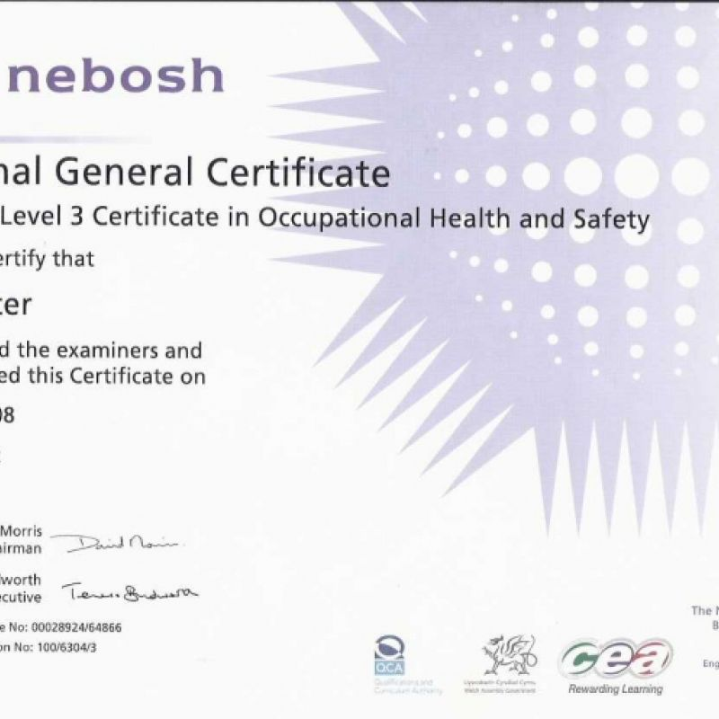 Level 3 Occupational Health and Safety